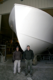 Construction of the Jamie Hanna, a 55-foot research vessel outfitted for vibracoring, hydrographic survey, and geophysical survey