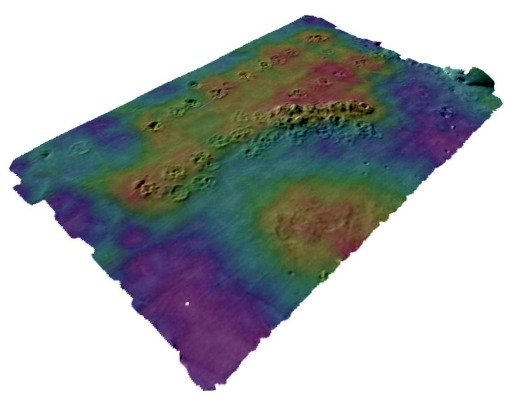 Backscatter from Multibeam used to Map Disposed Sediments