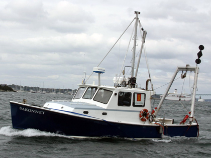 35-foot Bruno & Stillman fiberglass workboat outfitted for inshore survey and coring operations