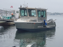 Trailered R/V Cyprinodon based out of Falmouth, MA